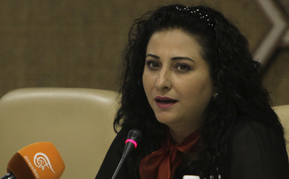 Lana Shahine, corresponsal directa de Al Mayadeen en Gaza. Foto: Ladyrene Pérez/ Cubadebate.