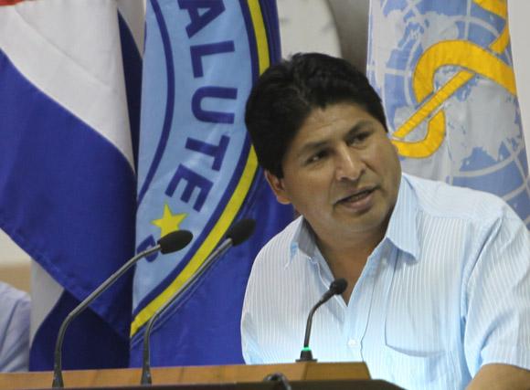 Juan Carlos Calvimontes ministro de Salud Publica de Bolivia. Foto: Ismael Francisco/Cubadebate.