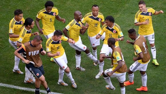 La selección colombiana en el Mundial de Fútbol. Foto / Marca.