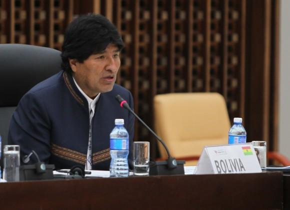 Evo Morales, presidente de Bolivia, durante la Cumbre Extraordinaria sobre el Ébola. Foto: Ismael Francisco/ Cubadebate.