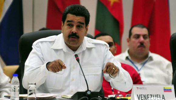 Intervención de Nicolás Maduro, presidente de Venezuela, en la Cumbre del ALBA-TCP sobre el Ebola en La Habana. Foto: Ladyrene Pérez/ Cubadebate
