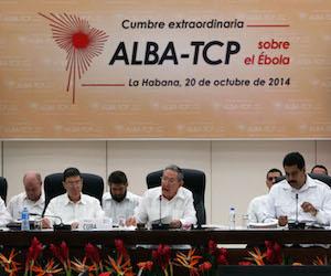 Cumbre extraordinaria del ALBA-TCP sobre el bola, celebrada en La Habana el 20 de octubre de 2014. Foto: Ismael Francisco/ Cubadebate