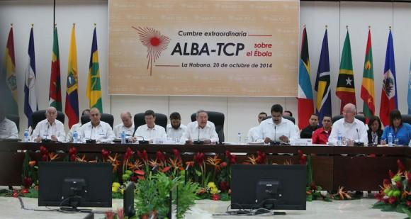 Raúl Castro interviene en la Cumbre del ALBA-TCP sobre el Ebola en La Habana. Foto: Ismael Francisco/ Cubadebate.