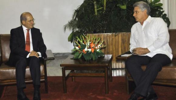 díaz canel recibe a director general de la organización para la prohibición de armas químicas