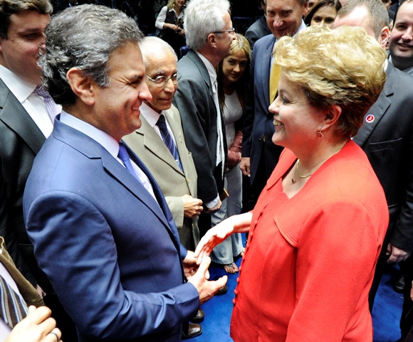 Dilma Rousseff y Aécio Neves