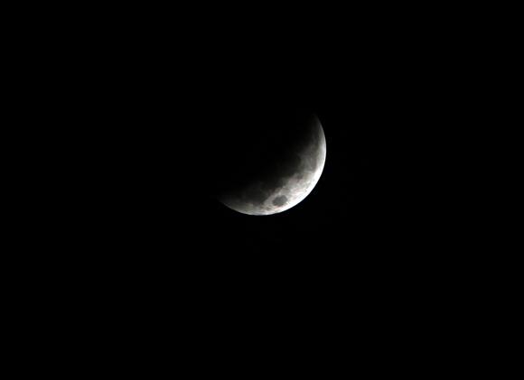 Eclipse de Luna (6:05 am)  visto desde la Habana, Cuba. Foto: Ismael Francisco/Cubadebate