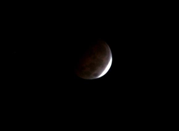 Eclipse de Luna (6:30 am)  visto desde la Habana, Cuba. Foto: Ismael Francisco/Cubadebate