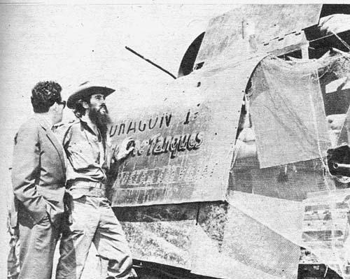 El emblemático Dragón I, una de las iniciativas de la tropa rebelde para rendir el cuartel de Yaguajay. Foto: Perfecto Romero.