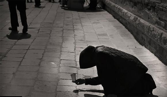 """Fotografía tomada en Venecia, titulado """"Una silueta distante""""."""