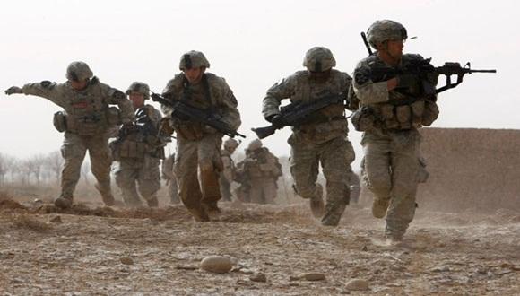Soldados británicos durante la guerra en Afganistán.