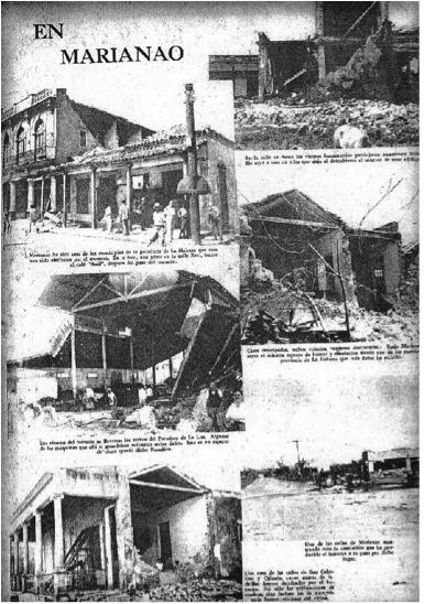 El Huracán de octubre de 1944 en Marianao (Tomado de la revista Bohemia. Año 36. Nro. 39. Octubre de 1944).