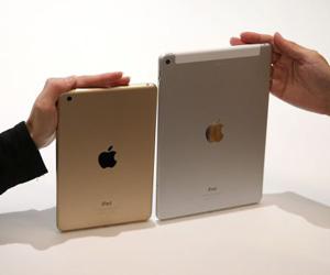 El nuevo iPad 2 y el iPad Mini 3. Foto: JUstin Sullivan / AFP.