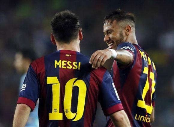 Messi, Neymar y Sandro le dan los tres puntos al Barcelona