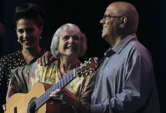 Haydeé Milanés, Marta Valdés y Pablo Milanés. Foto: Ladyrene Pérez/ Cubadebate