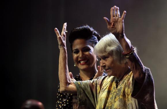 Haydeé y Marta Valdés en el concierto. Foto: Ladyrene Pérez/ Cubadebate