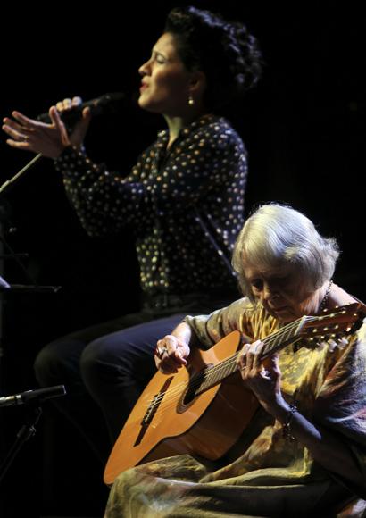 Marta Valdés en el concierto. Foto: Ladyrene Pérez/ Cubadebate