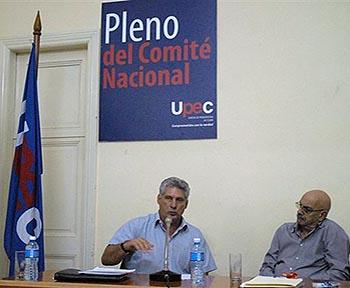 Asiste Díaz-Canel a Pleno de los periodistas cubanos