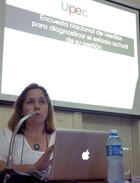 Rosa Miriam Elizalde, miembro de la Presidencia de la UPEC.