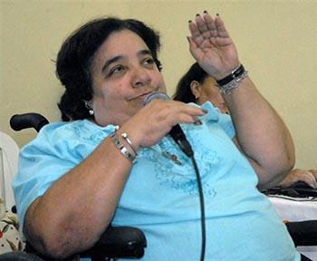 Isabel Moya, miembro del Comité Nacional de la UPEC y directora de la Editorial de la Mujer.