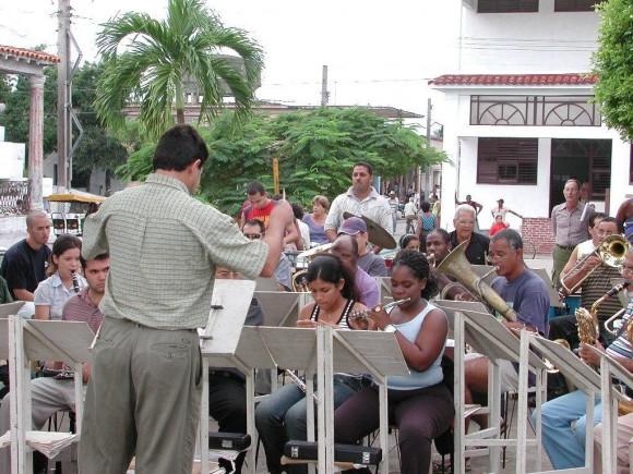 Banda municipal Consolación del Sur. Foto:  Eddy E. del Valle / Cubadebate