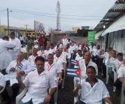 Brigada médica cubana en inauguración de hospital antiébola en Liberia