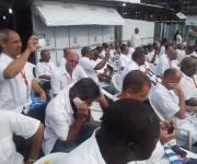 Brigada médica cubana en inauguración de hospital antiébola en Liberia.