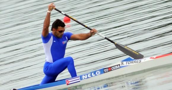 Canotaje centroamericano, oro de Serguei Torres en el C1 con un tiempo de 3: 48; 70 primer oro de la delegacion cubana. Foto: Ricardo López Hevia / Granma / Cubadebate