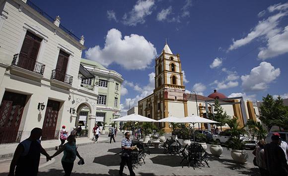 Vista de la Iglesia de la Soledad, desde el Hostal Camino de Hierro. Camaguey. Cuba. Foto: Ismael Francisco/Cubadebate.