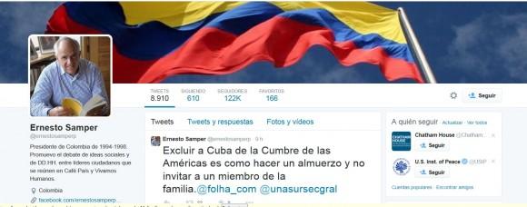 Ernesto Samper twitter