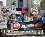 Fracking protestas A