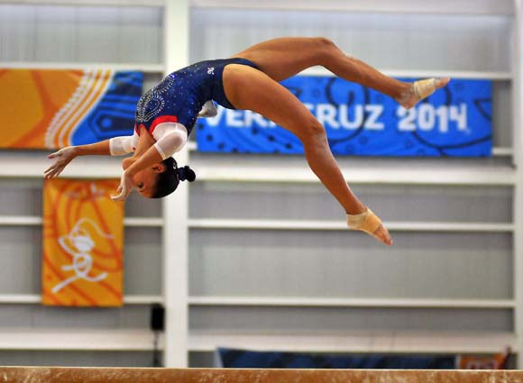 Yesenia Ferrera, gimnasia ritmica. Foto: Ricardo López Hevia