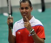 Oro para el  cubano Jorge Grau en Pistola Neumatica 10 mts.Grau ganó cuatro de oro.  El Tiro Deportivo aportó 14 oros para Cuba. Foto: Ismael Francisco/Cubadebate.