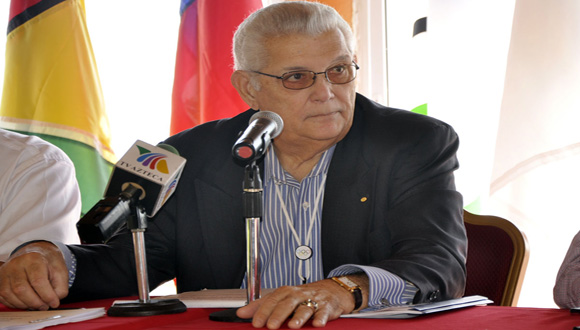 Héctor Cardona, presidente de la Organización Deportiva Centroamericana y del Caribe. Foto: Notimex.