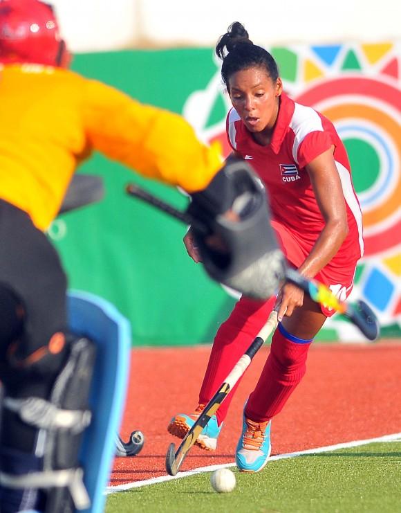 Cuba gana Oro en el hockey sobre césped femenino. Vence a RDominicana. Foto: Ricardo López Hevia / Granma / Cubadebate