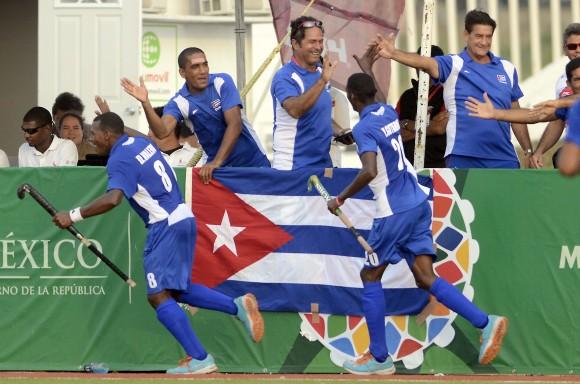 HOCKEY JCC ORO Masculino final Cuba vs Trinidad y Tobago gana cuba 5 x 1Yoandy Blanco el jugador mas destacado. Foto: Ricardo López Hevia / Granma / Cubadebate
