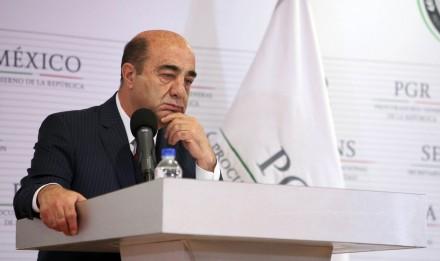Jesús Murillo Karam, titular de la PGR. Foto: Benjamin Flores.