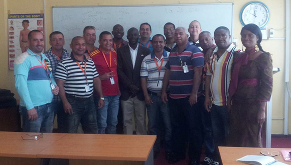 Liberiano con Brigada Médica de Cuba