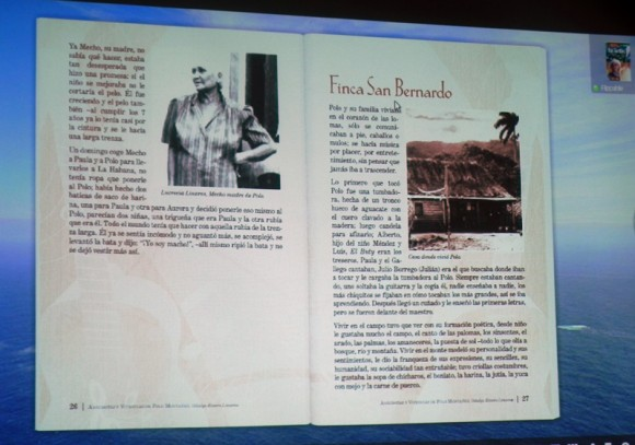 Multimedia del libro de Polo Montañez. Foto: Marianela Dufflar