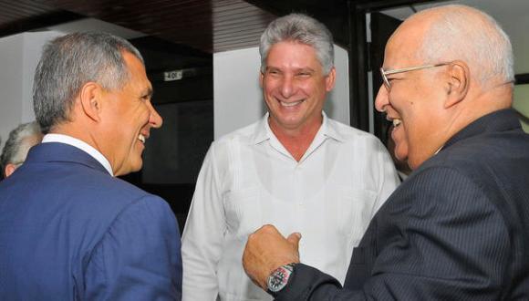 Miguel Díaz-Canel con presidente de Tatarstán 1