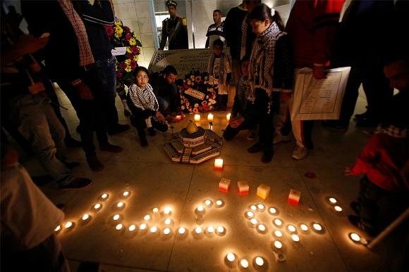 Palestinos rinden homenaje a Yasser Arafat en décimo aniversario de su muerte 14