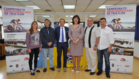 Presentación del Campeonato Iberoamericano de Triatlón.