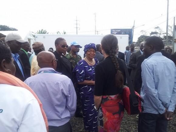 Presidenta en Inauguración de Hospital en Liberia