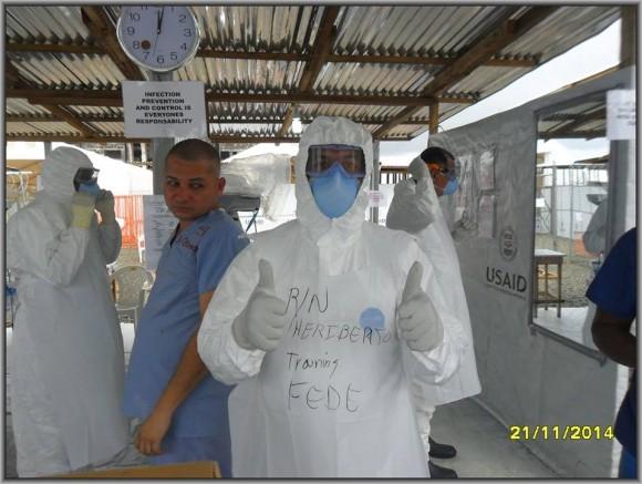 Primer día de entrenamiento intensivo en la zona roja del tercer subgrupo de la Brigada Médica Cubana en Liberia6