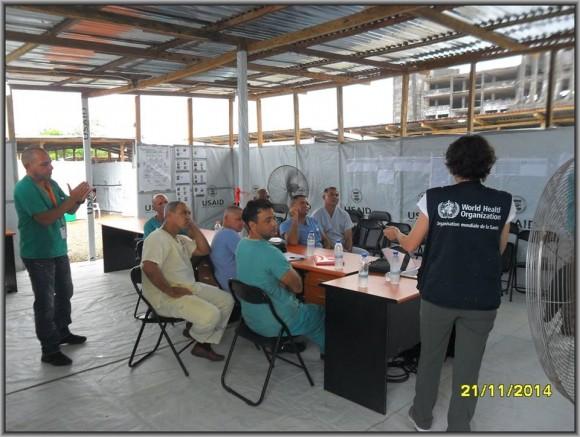 Primer día de entrenamiento intensivo en la zona roja del tercer subgrupo de la Brigada Médica Cubana en Liberia9