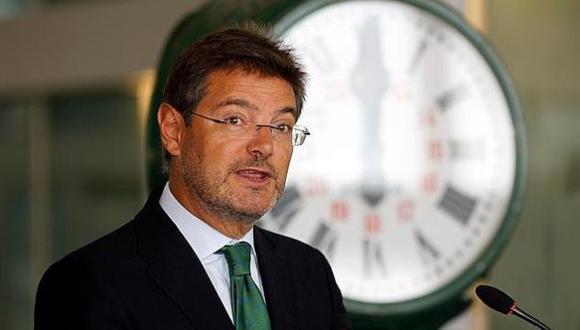 Rafael Catalá, ministro de Justicia de España. Foto: EFE.