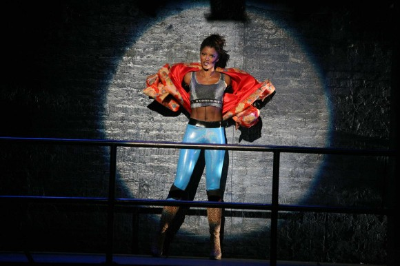 ENT: FILMED LIVE ON BROADWAY  Pictured: Renée Elise Goldsberry as Mimi.  Photo: Casey Stouffer