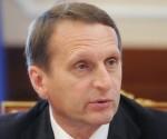Serguei Narishkin. Foto: Vladimir Fedorenko / Ria Novosti.