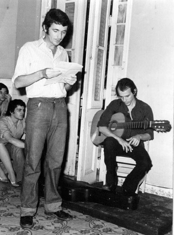 Silvio Rodríguez y Luis Rogelio Nogueras.