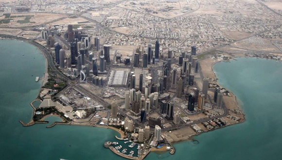 Una vista aérea de Burj Khalifa (Torre Califa) en Dubái, el edificio más alto del mundo con una altura de 828 metros. Foto: Reuters