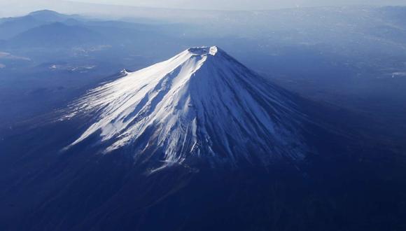 El monte Fuji de Japón, cubierto de nieve. Foto: Reuters